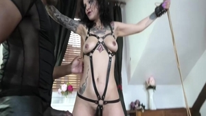 Wild and classy pawg in sexy lingerie gonzo handjob