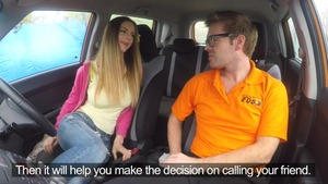 Blowjobs in a car escorted by hot blonde Ryan Ryder