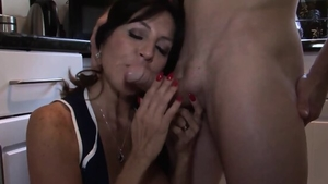 Large tits stepmom really enjoys hard ramming