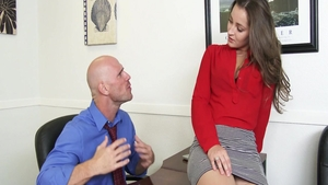 Dani Daniels together with Johnny Sins creampied