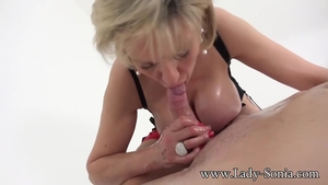 Plowing hard together with big tits MILF