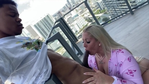 Rough fucking with tattooed blonde