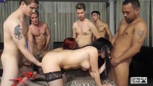 Large boobs stepmom in sexy stockings interracial pounding HD