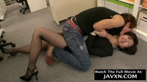 In office hairy asian