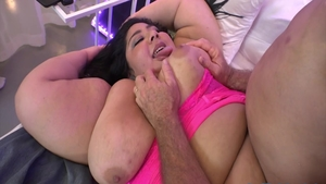 Hard sex in company with screaming brunette Crystal Blue