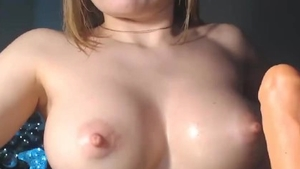 Playing with sex toys live on cam among big boobs babe