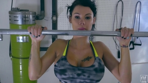 Huge tits Peta Jensen workout cumshot
