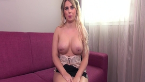 Handjob on the couch hot french