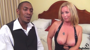 POV hard slamming in company with big boobs blonde haired
