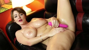 Solo Sophie Dee goes wild on cock