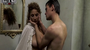 Hard sex in company with curly haired mature Roberta Gemma