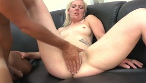 Passionate french chick helps with plowing hard HD