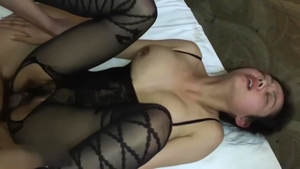 Exotic woman japanese brunette crazy threesome HD