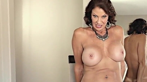 MILF Vanessa Videl masturbating during interview