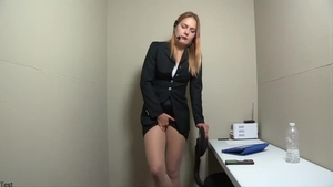 Kinky blonde haired pissing