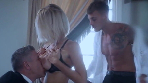 Very sensual young hotwife hardcore threesome at the party HD