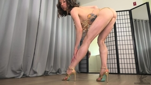 Sloppy fucking small boobs female in high heels