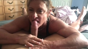 The best sex with muscled girl