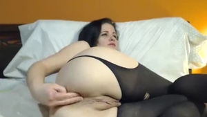 Large boobs mature goes for bondage in stockings in HD