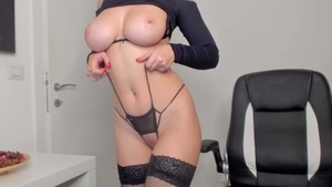 Solo large tits in lingerie amateur smoking