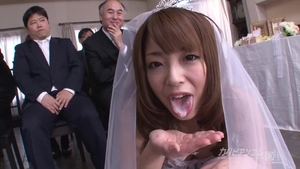 Asian bikini gangbang at the wedding in HD