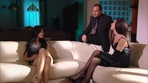 Jennifer Dark & Lucy Lee together with Francesco Malcom