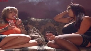 Erotic Emma Butt foursome smoking
