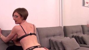 Skinny french stepmom feels in need of hard slamming HD