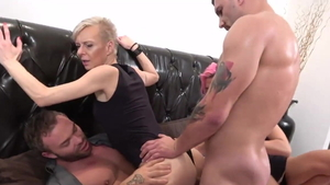 Plowing hard together with Belinda Bee & Valentina Sierra
