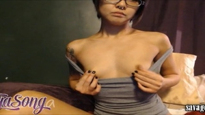 Slamming hard in the company of petite babe