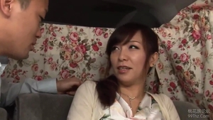 Japanese in sexy stockings creampie HD
