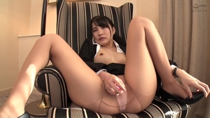 Hairy japanese censored playing with sex toys in HD