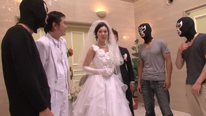Large tits japanese babe gangbang at the wedding HD