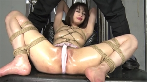 Exotic babe asian brunette wants hogtied HD