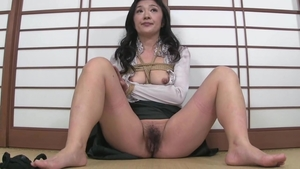 Hairy japanese brunette feels the need for fucking in HD