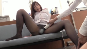 Asian in tight stockings sex with toys in HD