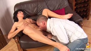 Deepthroat together with shaved czech babe