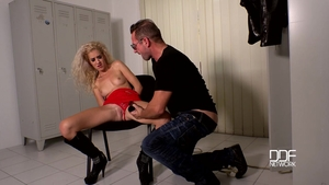 Blonde hair Monique Woods lusts hard ramming