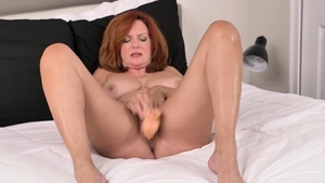 Solo redhead dick sucking