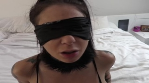 'Joanna gal And small Hands ass POV bang With Blindfold'