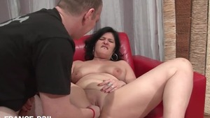 Hard nailining plump french slut