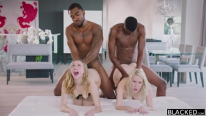 Hardcore foursome amongst sexy babe Cadence Lux