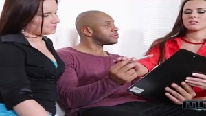 Wendy Moon in company with Mea Melone threesome