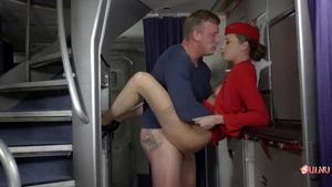 Stewardess digs cumshot HD