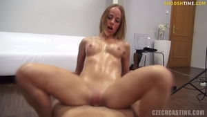Blowjob at castings together with blonde