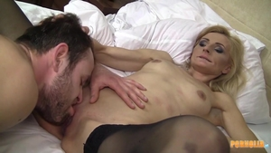 Loud sex starring small boobs blonde haired