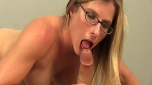 Large boobs babe has a soft spot for deepthroat in HD