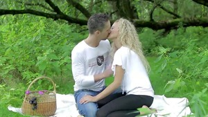 Pierced passionate stepmom romantic pussy eating outdoors