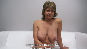 Big boobs mature finds dick to fuck at the audition