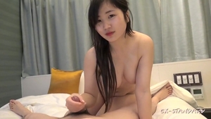 Cumshot together with chubby petite japanese brunette